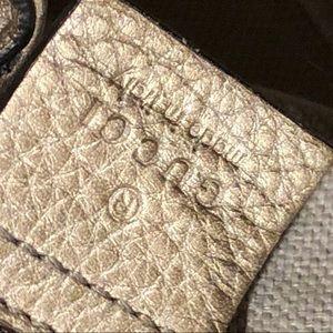 Gucci Bags - Gucci Soho Metallic Chain Medium Tote Golden Beige